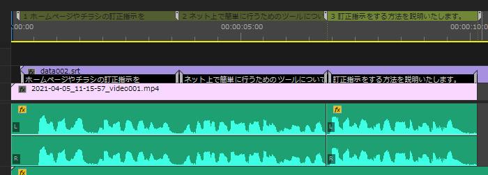 Easy Captions for Premiere Pro、.SRT挿入